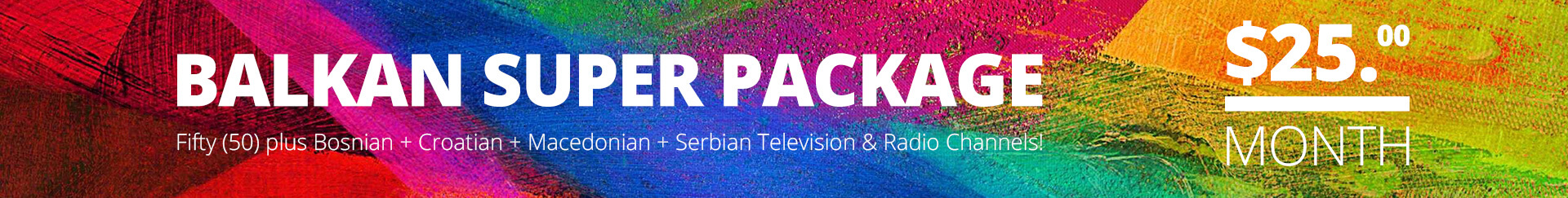 Balkan Super Package TV Banner